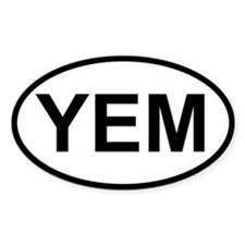 Sticker Oval - YEM