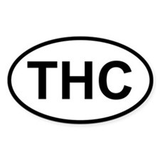 Sticker Oval - THC