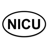 Sticker Oval - NICU