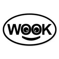 Sticker Oval - Happy Wookie