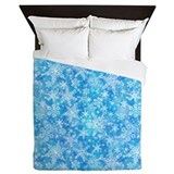 Feathery snowflake Queen Duvet Covers