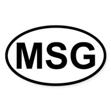 Sticker Oval - MSG