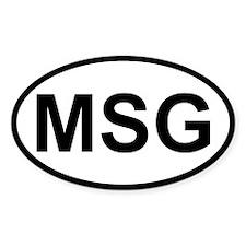 Sticker Oval - MSG