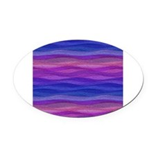 Mellow Waves Oval Car Magnet