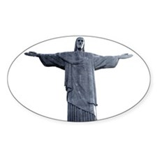 Rio Statue of Christ Oval Stickers