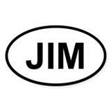 Sticker Oval - Jim