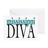 Mississippi Diva Greeting Cards (Pk of 10)