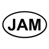Sticker Oval - Jam