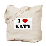 I Love KATY Tote Bag