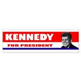 Kennedy for President 1960 Bumper Car Sticker