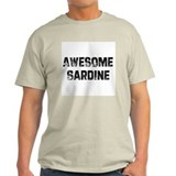 Awesome Sardine Ash Grey T-Shirt