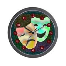 Drama Thespian Masks Wall Clock