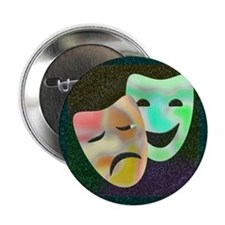 Drama Thespian Masks Button