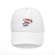 Going Down Dolphins Scuba Diving Baseball Cap