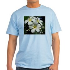 Yellow Center Plumeria Ash Grey T-Shirt