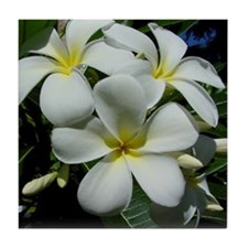 Yellow Center Plumeria Tile Coaster