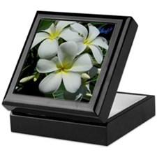 Yellow Center Plumeria Keepsake Box