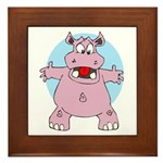 Hippo Hug Framed Tile