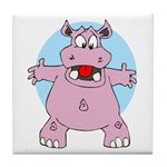 Hippo Hug Tile Coaster