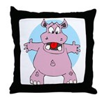 Hippo Hug Throw Pillow