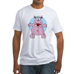 Hippo Hug Fitted T-Shirt