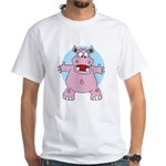 Hippo Hug White T-Shirt