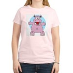 Hippo Hug Women's Pink T-Shirt
