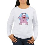 Hippo Hug Women's Long Sleeve T-Shirt
