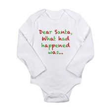 Dear Santa, What had Happened Was... Body Suit