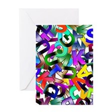 Colorful Alphabet Greeting Cards