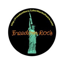 "Lady Liberty with AR-15 3.5"" Button (100 pack)"