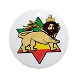 Zion Lion Ornament (Round)