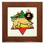 Zion Lion Framed Tile