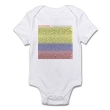 102 dichos colombianos Infant Bodysuit