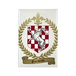 GARNEAU Family Crest Rectangle Magnet