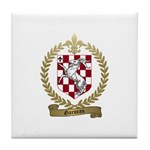 GARNEAU Family Crest Tile Coaster