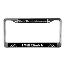 Mountain Climber License Frame