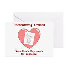 Valentine's Restraint Greeting Cards (Pk of 10