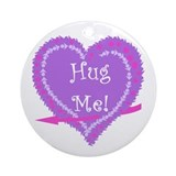 Valentine's Day Hug Me Ornament (Round)