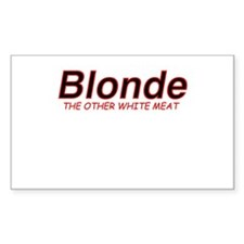 Blonde Other White Meat Rectangle Decal