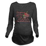 Two-Stroke Roses Long Sleeve Maternity T-Shirt