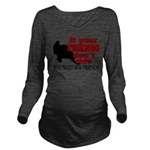 FRIENDS DONT RIDE2.png Long Sleeve Maternity T-Shi