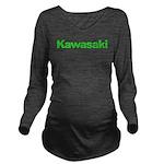 kawigreenback.png Long Sleeve Maternity T-Shirt