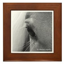 Window to a Kind and Gentle Soul Framed Tile