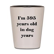 85 dog years 3-3 Shot Glass