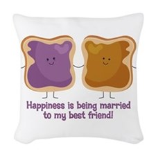 PBJ Married Best Friend Woven Throw Pillow