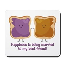 PBJ Married Best Friend Mousepad