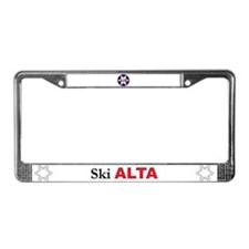 Ski Alta License Plate Frame