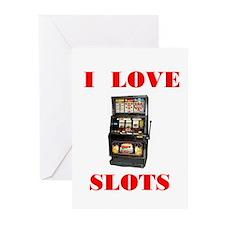 I LOVE SLOTS Greeting Cards (Pk of 10)