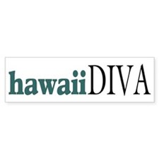 Hawaii Diva Bumper Bumper Sticker
